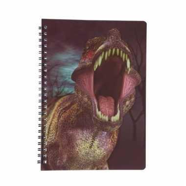 Dinosaurus schrijfboekje 3d 21cm