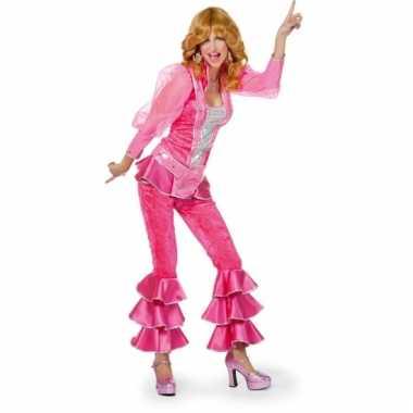 Disco outfit voor dames roze