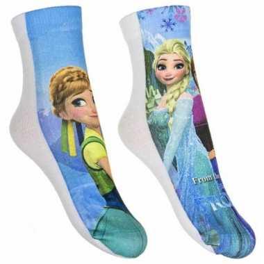 Disney frozen sokken 2-pak blauw