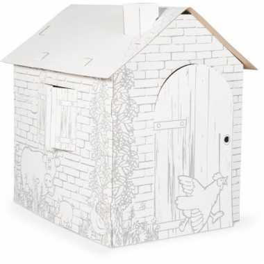 Doe het zelf speelhuisje van karton