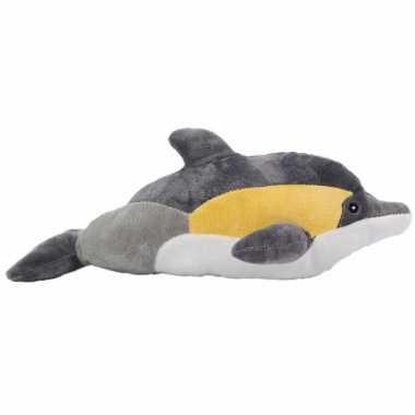 Dolfijn knuffeldiertje geel 35 cm