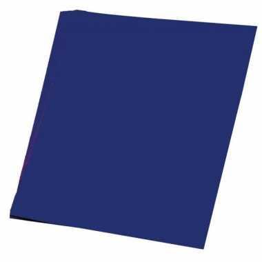 Donker blauw knutsel papier 50 vellen a4