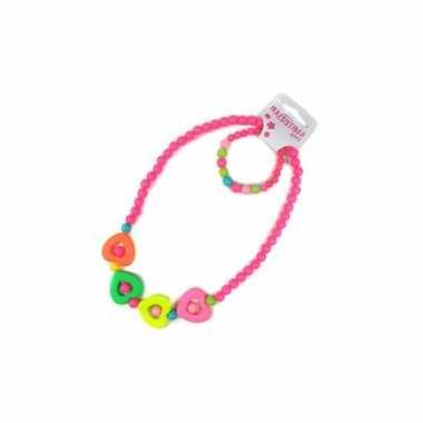 Donker roze sieraden setje voor kids