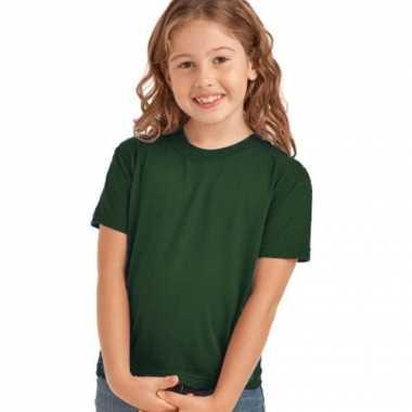 Donkergroen t-shirt voor kinderen