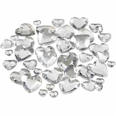 Doorzichtige hartjes steentjes 252 stuks