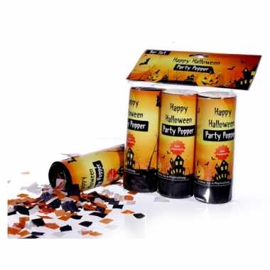 Drie halloween confetti shooters