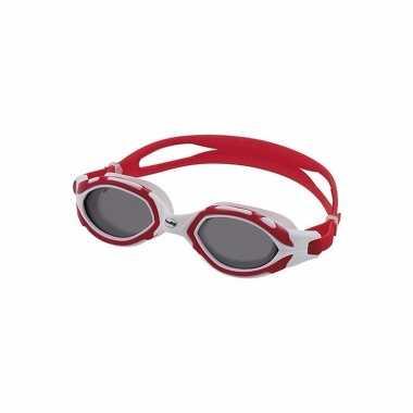 Duikbril voor volwassenen rood/grijs