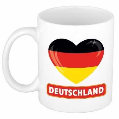 Duitse vlag hart mok / beker 300 ml