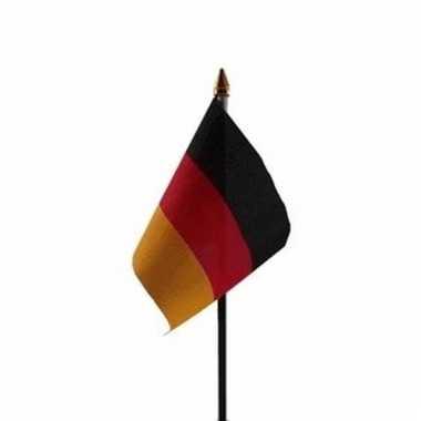 Duitsland luxe zwaaivlaggetje polyester
