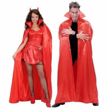 Duivel cape rood 158 cm