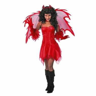 Duivel carnavalskleding jurkje volw