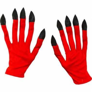 Duivels handschoenen van stof