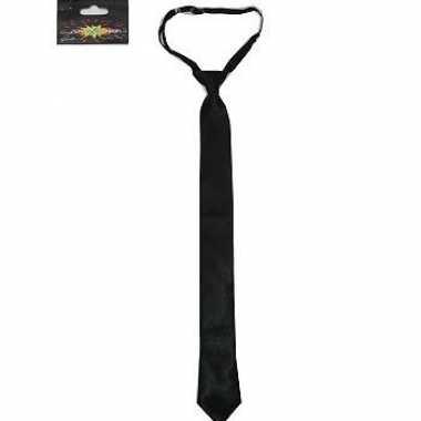 Dunne zwarte stropdas