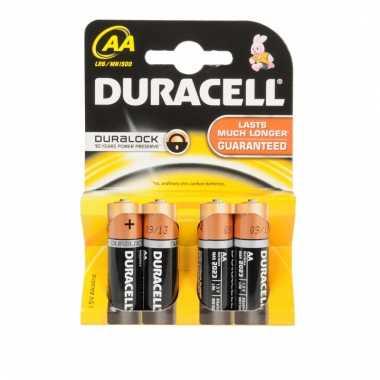 Duracell duralock aa batterijen 4 stuks