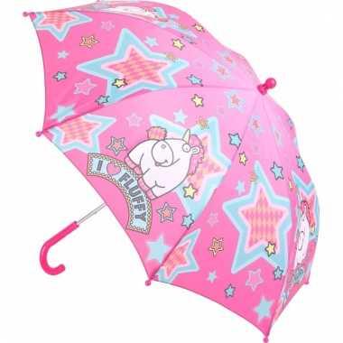 Eenhoorn kinder paraplu fluffy