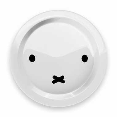 Eetbordje nijntje snoet wit