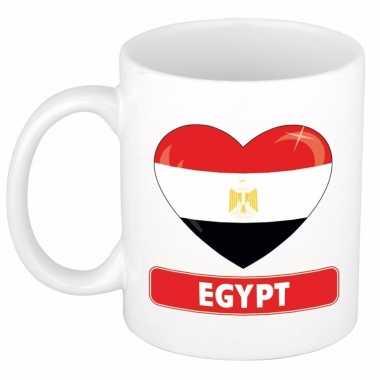 Egyptische vlag hart mok / beker 300 ml