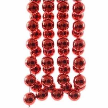Elegant christmas rode kerstversiering grote kralenslinger 270 cm