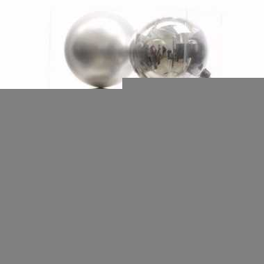 Elegant christmas zilveren kerstversiering kerstballen pakket 6 stuks