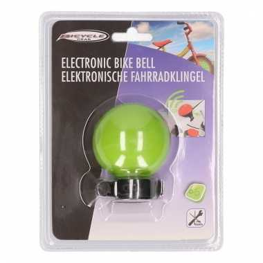 Elektronische fietsbel groen