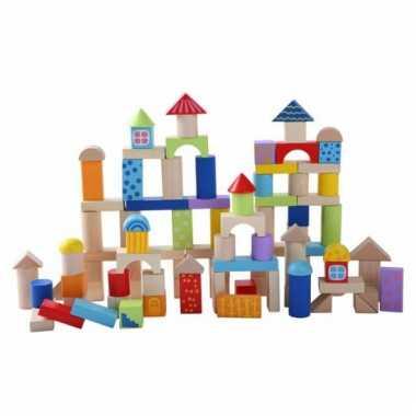 Emmer met houten blokken 100 stuks