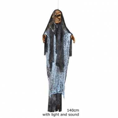 Enge spook pop met licht en geluid 140 cm