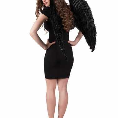 Engelen vleugels zwart 87 x 72 cm