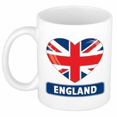 Engelse vlag hart mok / beker 300 ml