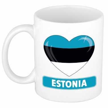 Estlandse vlag hart mok / beker 300 ml