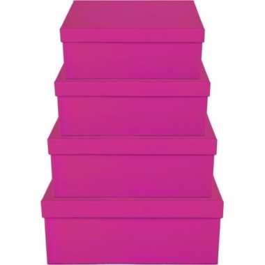 Etalage versiering roze cadeauverpakking doosje 10 cm