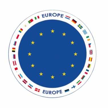 Europa vlag print bierviltjes