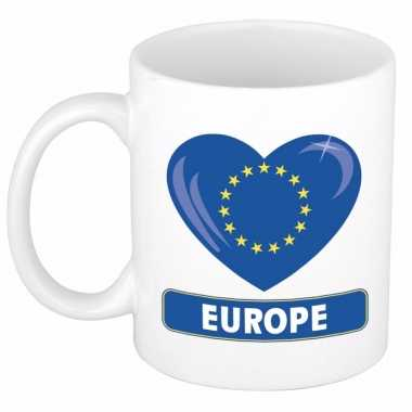 Europese vlag hart mok / beker 300 ml