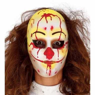 Evil clown masker voor horror feest