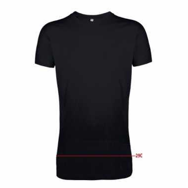 Extra lange zwarte shirts voor heren