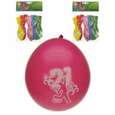Feest ballonnen 21 jaar