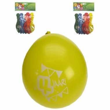 Feest ballonnen 4 jaar
