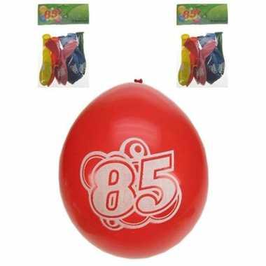 Feest ballonnen 85 jaar