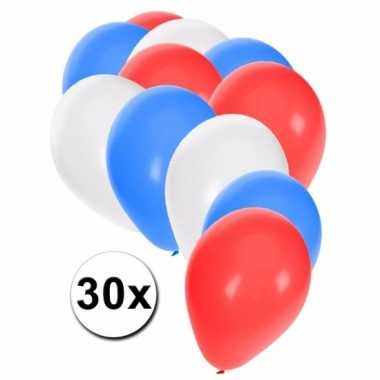 Feest ballonnen in de kleuren van amerika 30x