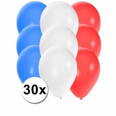 Feest ballonnen in de kleuren van frankrijk 30x