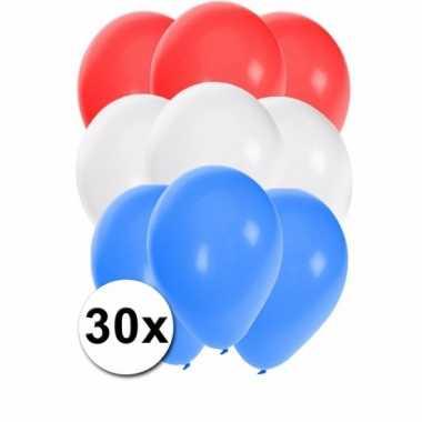 Feest ballonnen in de kleuren van nederland 30x