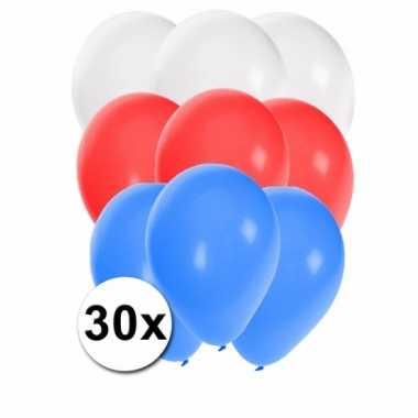 Feest ballonnen in de kleuren van slowakije 30x