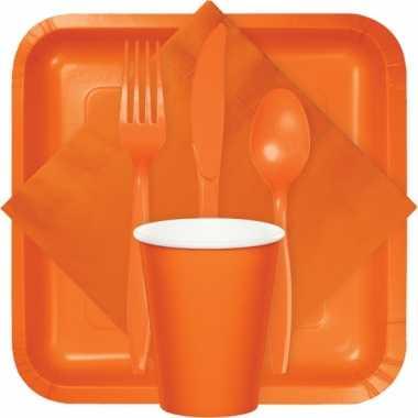 Feest bekertjes oranje 8 stuks