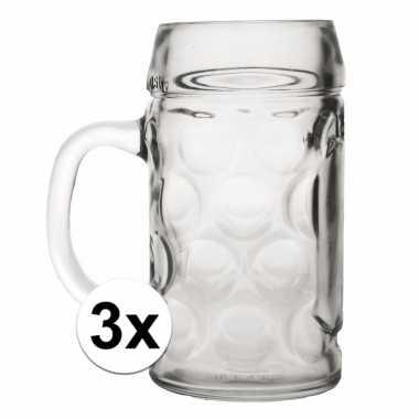 Feest bierpullen 0,5 liter 3 stuks
