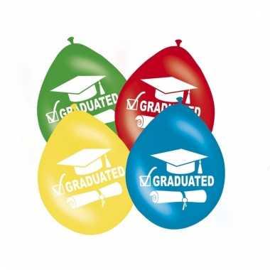Feest geslaagd ballonnen graduated 8x
