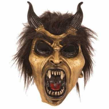 Feest masker horror duivel goud