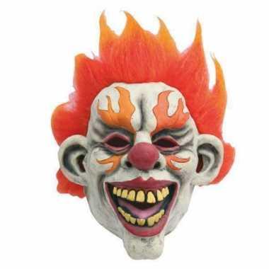 Feest masker horror scary clown flames