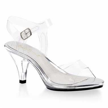 Feest prinsessen hakken/schoenen transparant voor dames