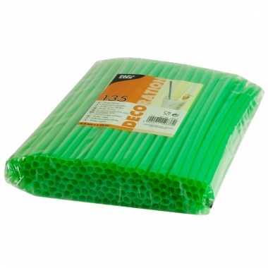 Feest rietjes groen kleurig 25 cm 135 stuks