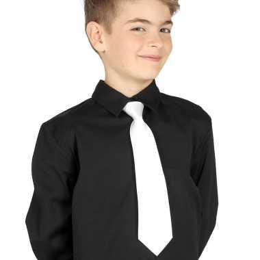 Feest stropdas wit voor kinderen