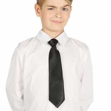 Feest stropdas zwart voor kinderen